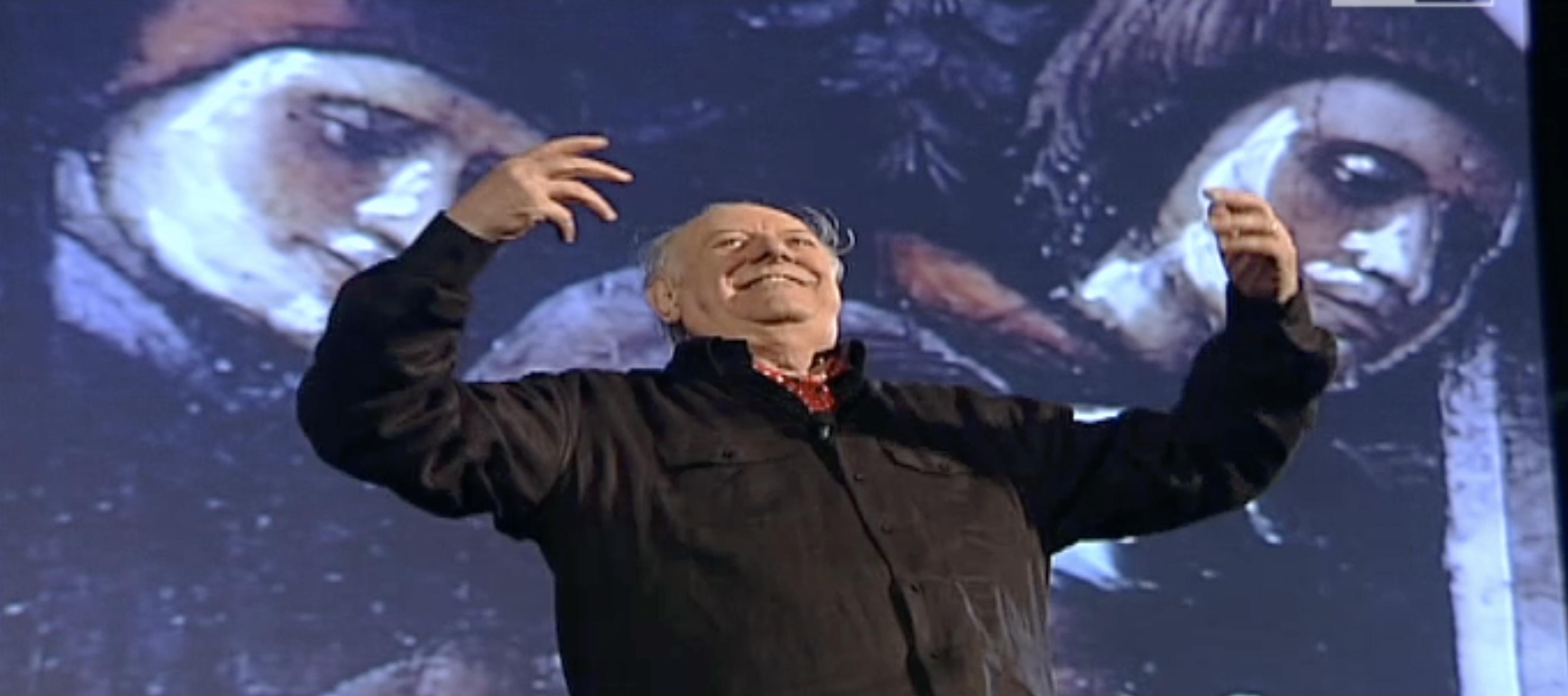 La volta che Dario Fo venne al Teatro Romano a raccontare Michelangelo