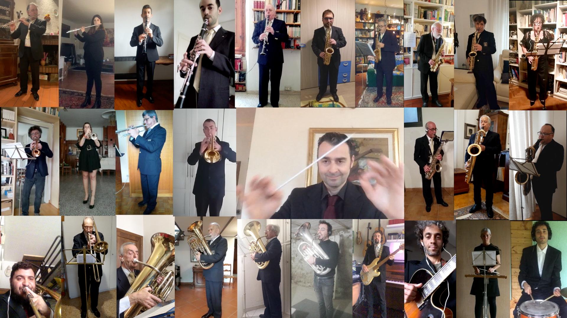 La banda di Fiesole suona sul Fiesolano per il 25 aprile