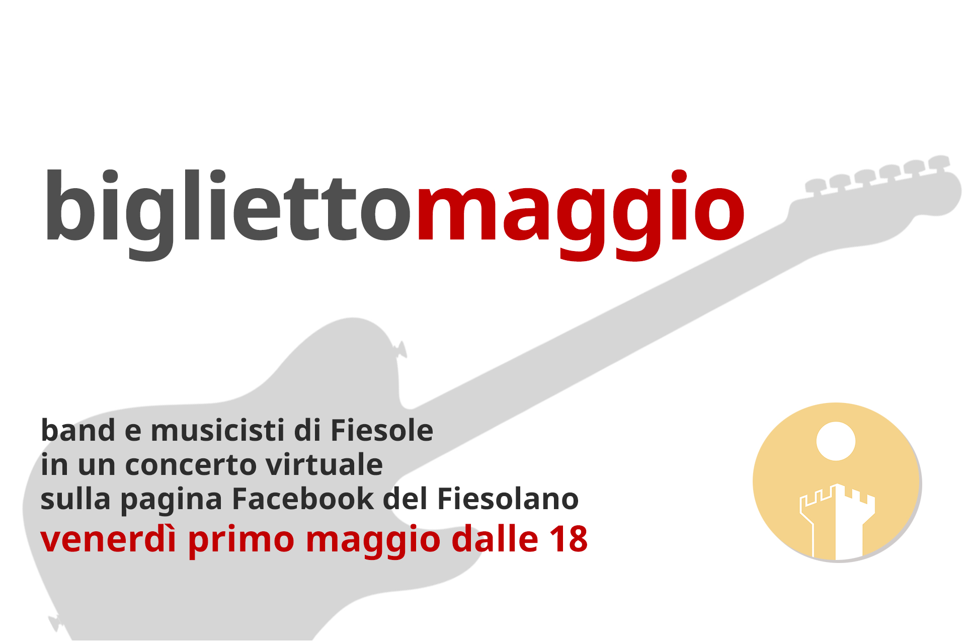 """""""Bigliettomaggio"""", il concertone virtuale del Fiesolano"""