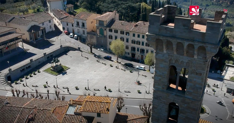 Quarantena a Fiesole: le spettacolari immagini dall'alto di Florence TV