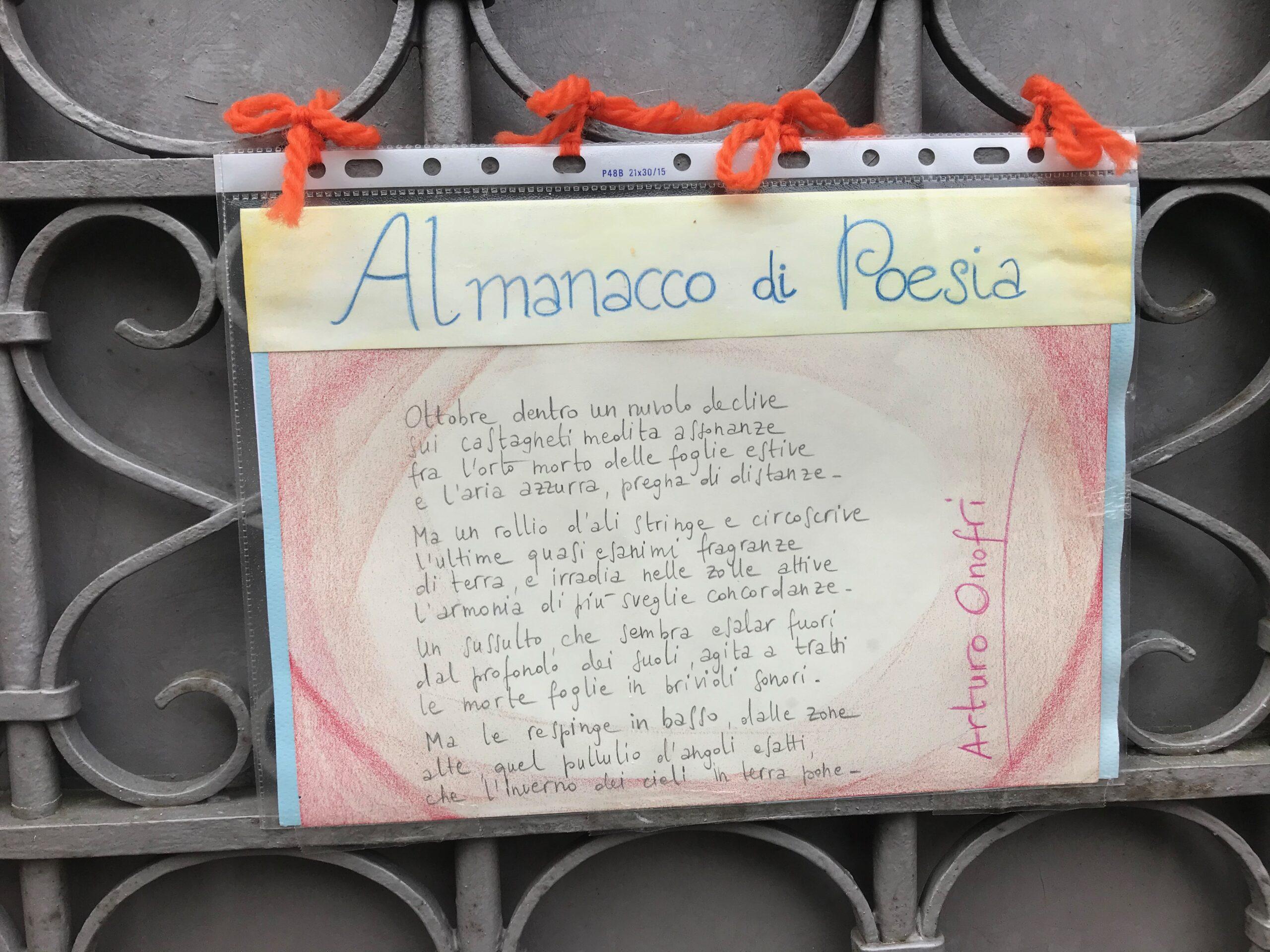 Una poesia sulla porta di casa, l'idea di un cittadino di Via Verdi. Perché non lo imitiamo?
